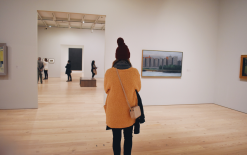 Paige at The Contemporary. Admiring art... Being art.